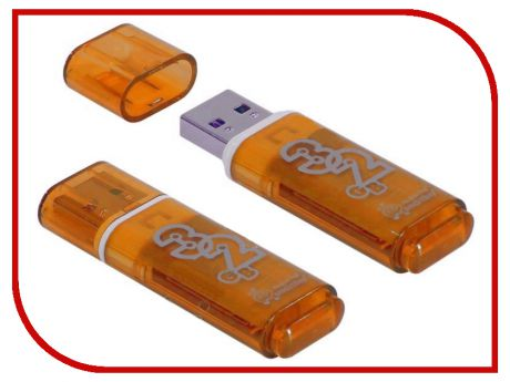 USB Flash Drive 32Gb - SmartBuy Glossy Series Orange SB32GBGS-Or