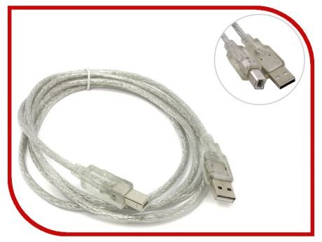 Аксессуар VCOM USB 2.0 AM-BM Transparent 1.8m VUS6900-1.8MTP