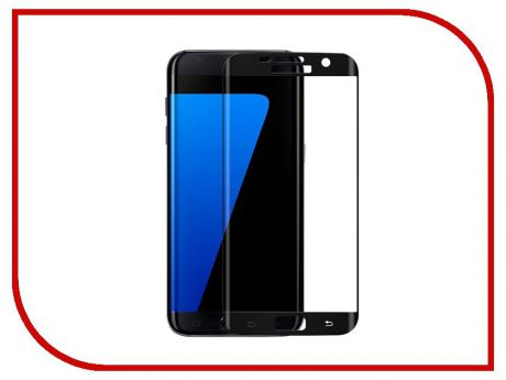 Аксессуар Защитное стекло Samsung Galaxy S7 Edge Full Screen 3D Red Line Tempered Glass Black