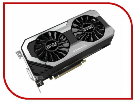 Видеокарта Palit GeForce GTX 1060 1506Mhz PCI-E 3.0 6144Mb 8008Mhz 192 bit DVI HDMI HDCP JetStream