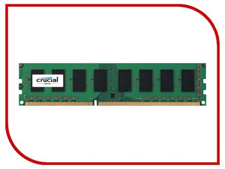 Модуль памяти Crucial DDR3 DIMM 1600MHz PC3-12800 1.35/1.5V - 8Gb CT102464BD160B