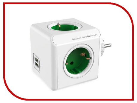 Разветвитель Allocacoc Original USB DE Green 1202GN/DEOUPC