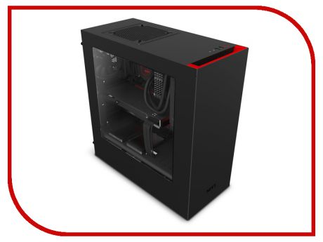 Корпус NZXT S340 Black-Red CA-S340MB-GR