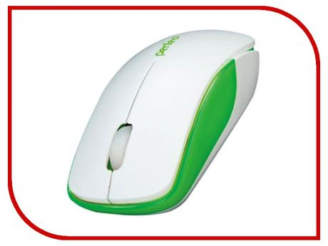 Мышь Perfeo Assorty USB White-Green PF-763-WOP-W/G