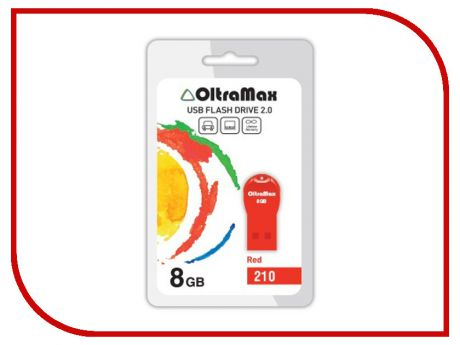 USB Flash Drive 8Gb - OltraMax 210 OM-8GB-210-Red