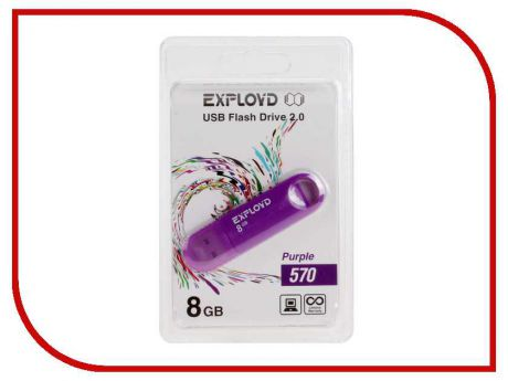 USB Flash Drive 8Gb - Exployd 570 EX-8GB-570-Purple