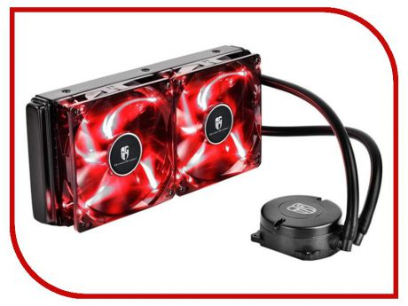 Водяное охлаждение DeepCool Maelstrom 240T Red (ALL Socket)