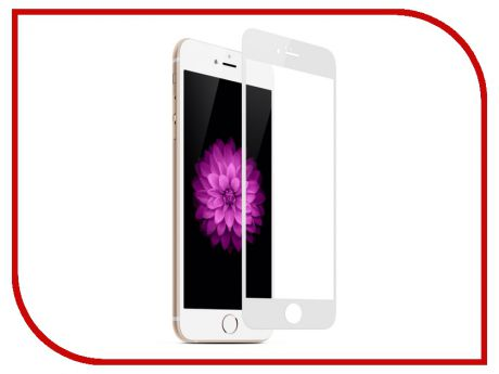 Аксессуар Защитное стекло Red Line Full Screen Tempered Glass для APPLE iPhone 8 Plus 5.5 White