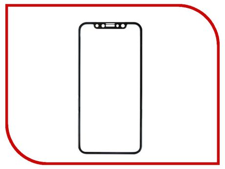Аксессуар Защитное стекло Red Line Full Screen 3D Tempered Glass для APPL iPhone X Black