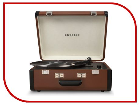 Проигрыватель Crosley Portfolio Portable CR6252A-BR