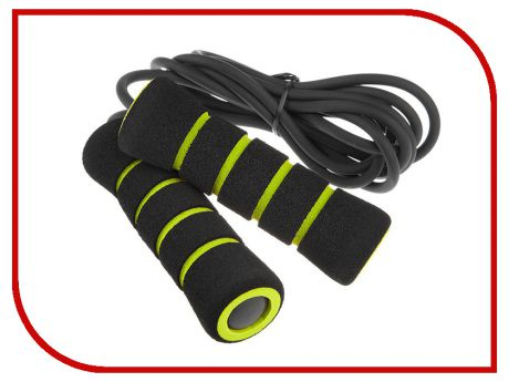 Скакалка Mad Wave Skip Rope PVC Black-Green M1321 02 0 00W