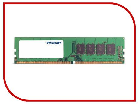 Модуль памяти Patriot Memory DDR4 DIMM 2400MHz PC4-19200 CL16 - 4Gb PSD44G240041
