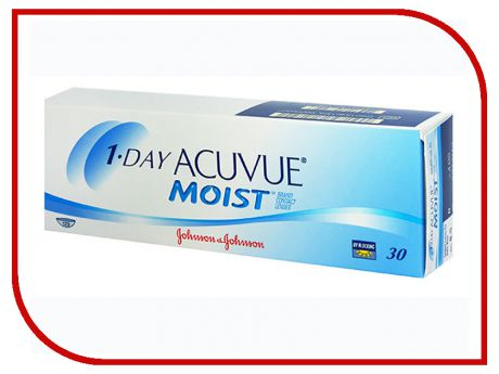 Контактные линзы Johnson & Johnson 1-Day Acuvue Moist (30 линз / 8.5 / -3)