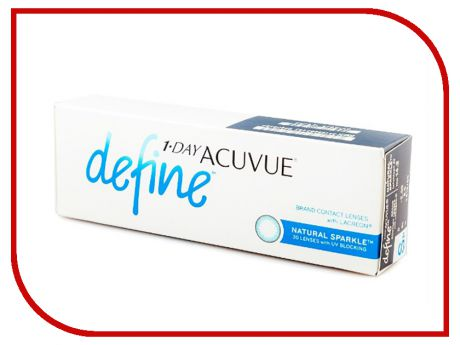 Контактные линзы Johnson & Johnson 1-Day Acuvue Define (30 линз / 8.5 / -1) Natural Sparkle