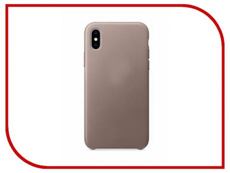 Аксессуар Чехол APPLE iPhone X Leather Case Taupe MQT92ZM/A