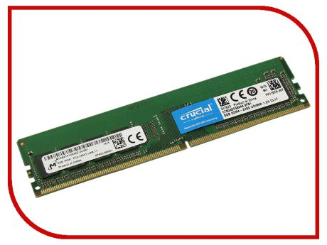 Модуль памяти Crucial DDR4 2400MHz PC4-19200 1.2V CL17 - 8Gb CT8G4DFS824A