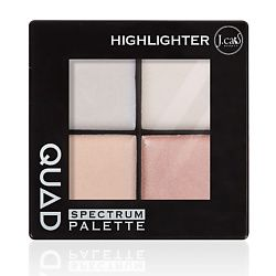 J. CAT BEAUTY Палетка хайлайтер для лица QUAD 101 Highlighter 6 г