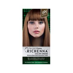 Перманентное окрашивание Richenna Color Cream 6N (Цвет 6N Light Chestnut variant_hex_name 664A35)