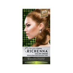 Перманентное окрашивание Richenna Color Cream 8YN (Цвет 8YN Light Golden Blonde variant_hex_name 9A6A42)