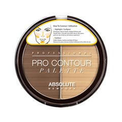 Для лица Absolute New York Pro Contour Palette 02 (Цвет 02 Medium variant_hex_name 8C5F48)