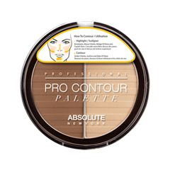 Для лица Absolute New York Pro Contour Palette 01 (Цвет 01 Light variant_hex_name BA8F6C)