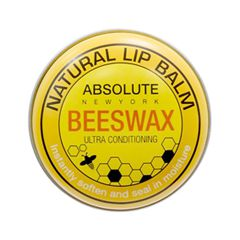 Цветной бальзам для губ Absolute New York Natural Lip Balm 01 (Цвет ANB01 Beeswax variant_hex_name FFE57A)