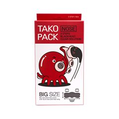 Патчи для носа Nightingale 3 Step Tako Pack Big Size Nose Blackhead Clear Solution