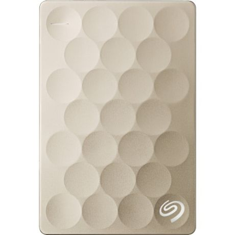 Внешний жесткий диск Seagate Backup Plus Ultra Slim 1TB (STEH1000201) Gold