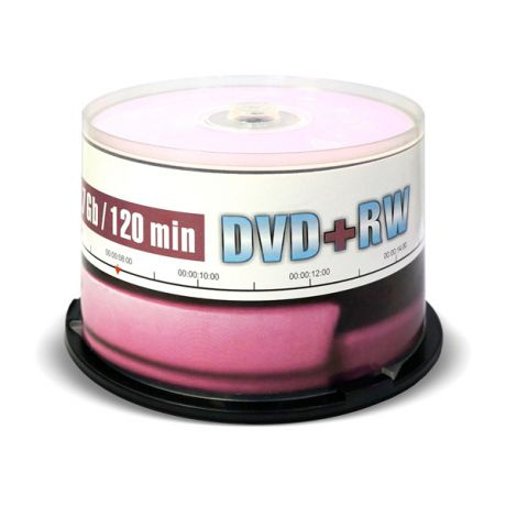 DVD+RW диск Mirex 4.7Gb 4x Cake Box 50 шт. (207207)