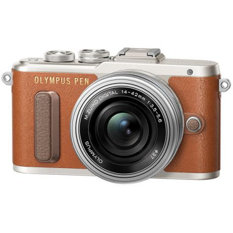 Фотоаппарат системный Olympus E-PL8 brown + 14-42mm EZ silver gift set