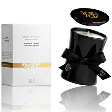 YESforLOV Massage Candle With The Titillating Scent, 120г Массажное масло в виде свечи