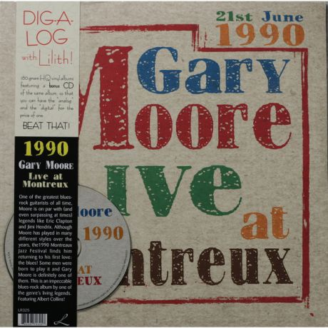 Gary Moore Gary Moore - Live At Montreux 1990 (2 Lp, 180 Gr + Cd)