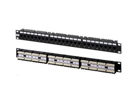 "Патч-панель Hyperline PP-19-24-6P4C-C2 19"", 1U, 24 порта RJ-12"