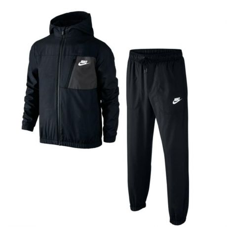 Костюм SPORTSWEAR WARM-UP TRACK SUIT 805473-010 черный 140