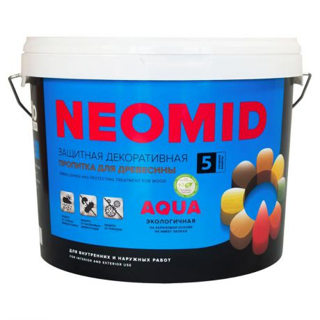 Антисептик Neomid Bio Color Aqua, махагон, 9 л