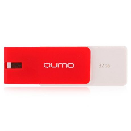 флешка 32ГБ Qumo Click Crimson, flash usb