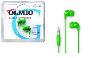 Наушники OLMIO Handsfree, green