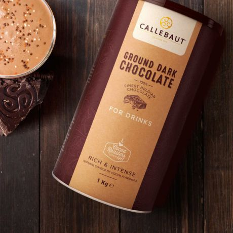 "Горячий шоколад Callebaut ""Ground Dark Chocolate"" (100% какао, 1 кг)"