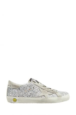 Golden Goose Deluxe Brand Kids Серебристые кеды с глиттером Superstar