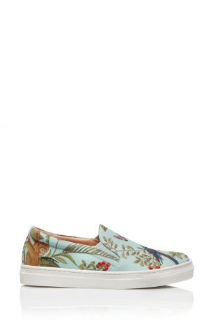 Aquazzura Children Слипоны De Gournay Slip On Mini