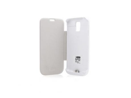 Чехол с аккумулятором Gmini mPower Case MPCS5F White для Galaxy S5 4200mAh Flip cover