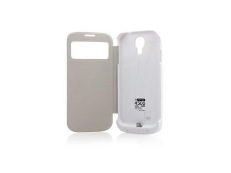 Чехол с аккумулятором Gmini mPower Case MPCS45F White для Galaxy S4 4500mAh Flip cover