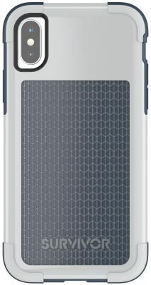 Накладка Griffin Survivor Fit для iPhone X синий серый TA43981