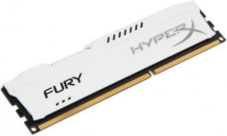 Оперативная память 4Gb PC3-10600 1333MHz DDR3 DIMM CL9 Kingston HX313C9FW/4 HyperX FURY White Series