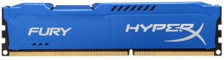 Оперативная память 4Gb PC3-10600 1333MHz DDR3 DIMM CL9 Kingston HX313C9F/4 HyperX FURY Blue Series