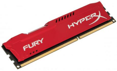 Оперативная память 4Gb PC3-10600 1333MHz DDR3 DIMM CL9 Kingston HX313C9FR/4 HyperX FURY Red Series