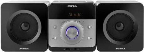 Микросистема Supra SMC-27D черный 50Вт/CD/CDRW/DVD/DVDRW/FM/USB/BT