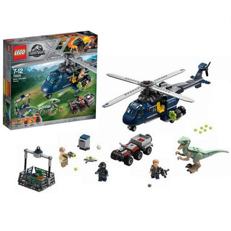 Lego Jurassic World 75928 Конструктор Лего Мир Юрского Периода Погоня за Блю на вертолёте