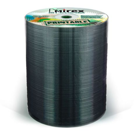 DVD-R диск Mirex 4.7Gb 16x Shrink 100 шт. Printable Full (209799)
