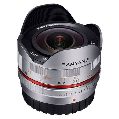 Объектив Samyang 7.5mm f/3.5 AS IF UMC Fish-eye micro 4/3 Silver